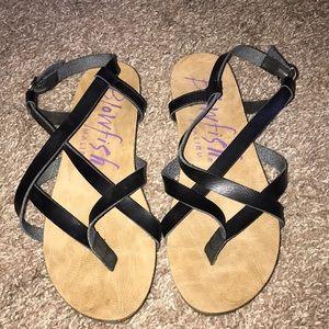 Shoes - Blowfish Black Sandals 8.5